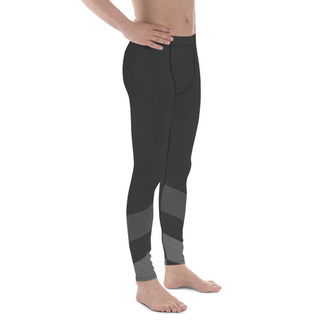 Gray Minimal Men Sportswear Leggings-famenxt