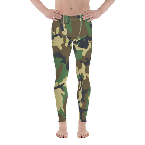 Camo Green Men Sportswear Leggings-famenxt
