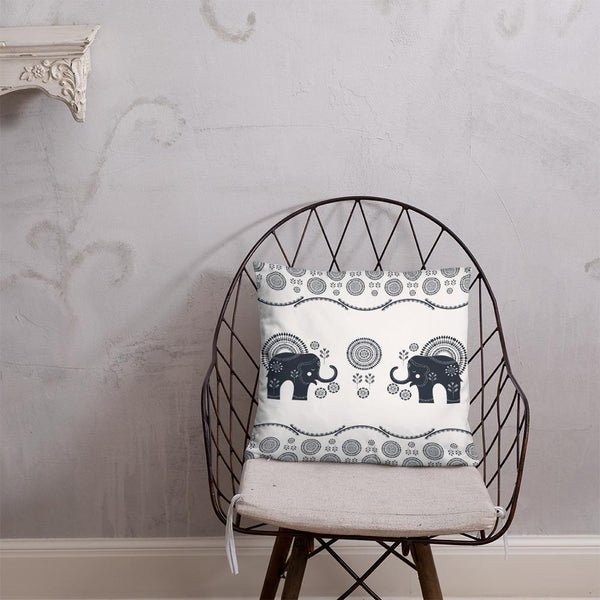 Bohemian Elephants from my15bohemianart Collection Basic Pillow - famenxtshop