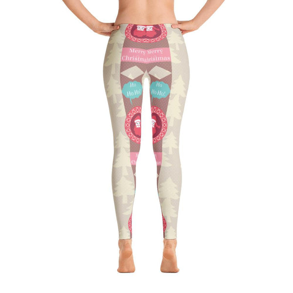 Merry Christmas Pattern Leggings-famenxt