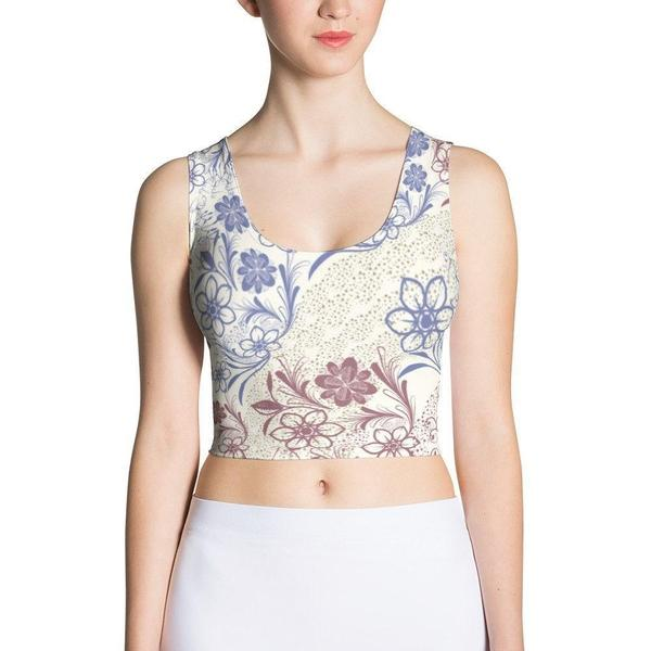 The royal Sublimation Cut & Sew Crop Top-famenxt
