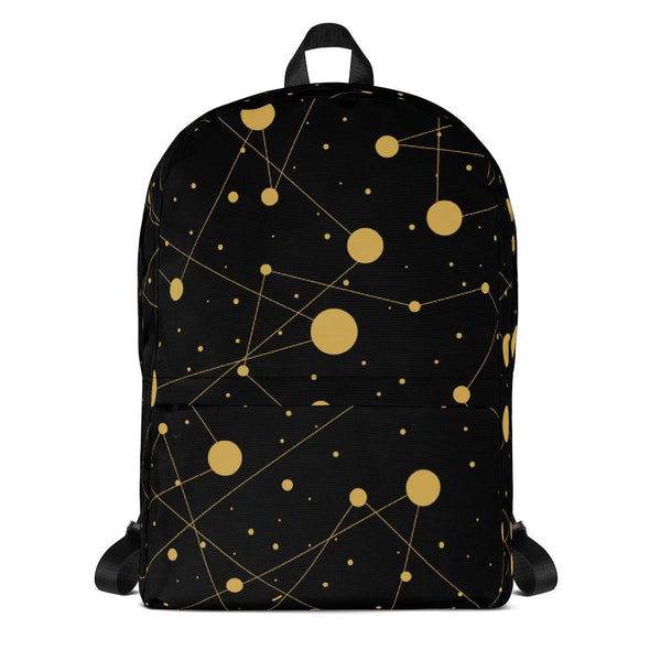 Black Gold Dots Backpack-famenxt