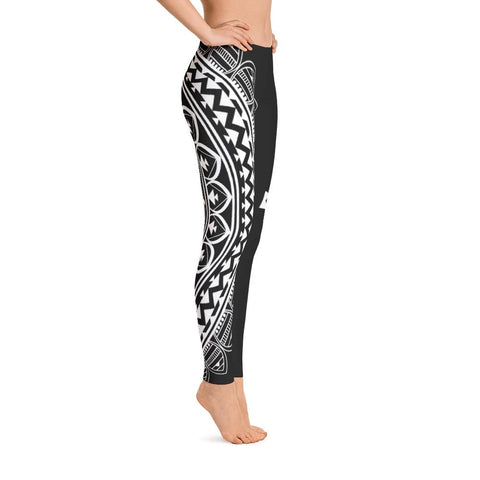 Half Mandala from my15bohemianart Collection Leggings-Leggings-famenxt