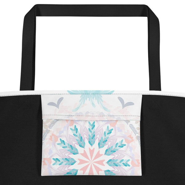 Pastel Goodness Soft Mandala Beach Bag-famenxt