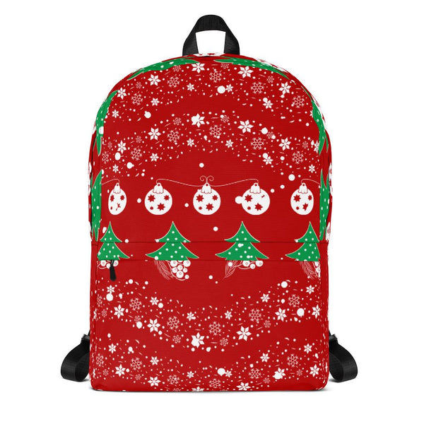 Red Christmas Backpack-famenxt