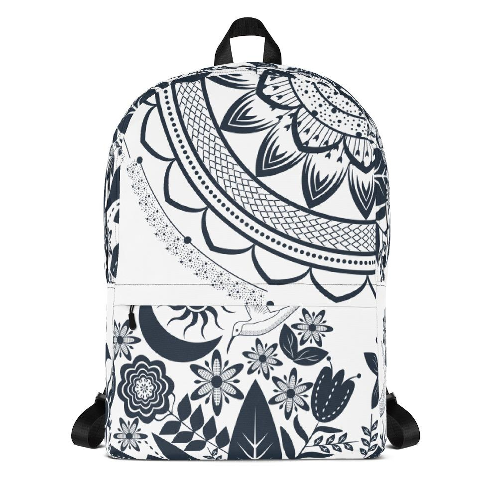 Half Mandala and Secret Garden from my15bohemianart Collection Backpack-famenxt