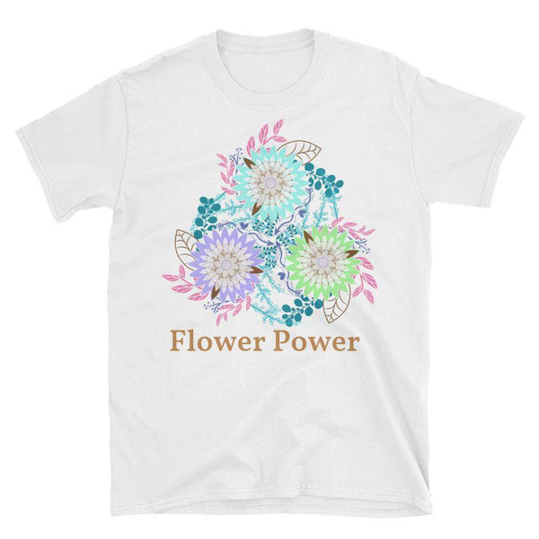 Flower Power Short-Sleeve Unisex T-Shirt-famenxt