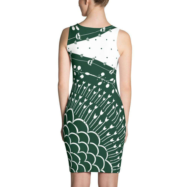 Forest Green Artistic Dress-famenxt