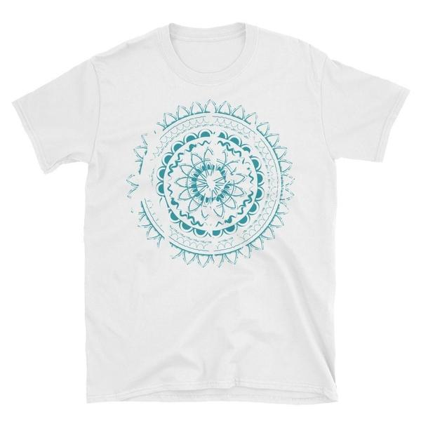 Rugged Blue Mandala Unisex T-Shirt-famenxt