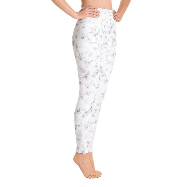 White marble Yoga Leggings-famenxt