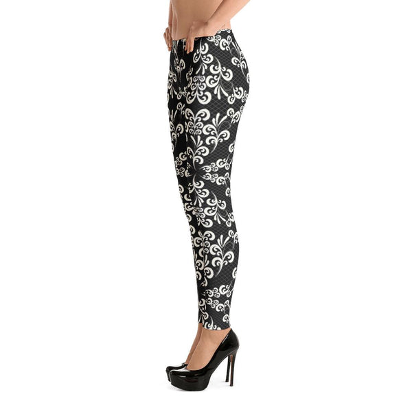 Ornate Lace from my15bohemianart Collection Leggings-famenxt