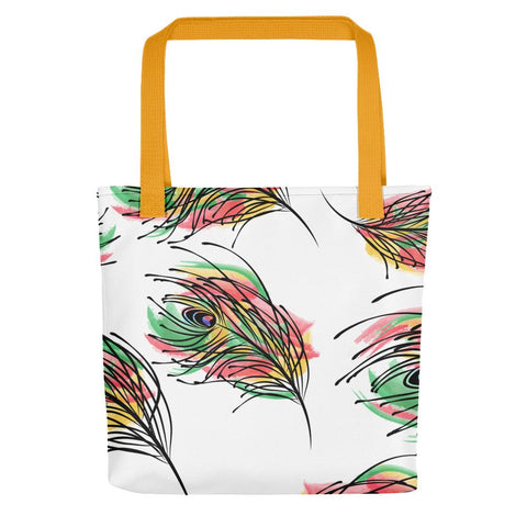 Colorful Feathers Tote bag-famenxt