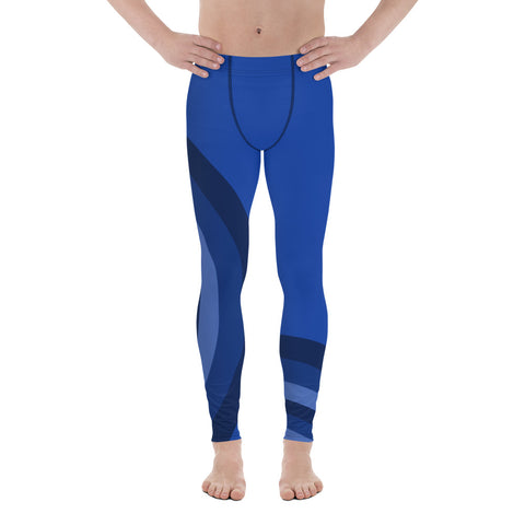 Challenge Blue Men Sportswear Leggings-famenxt