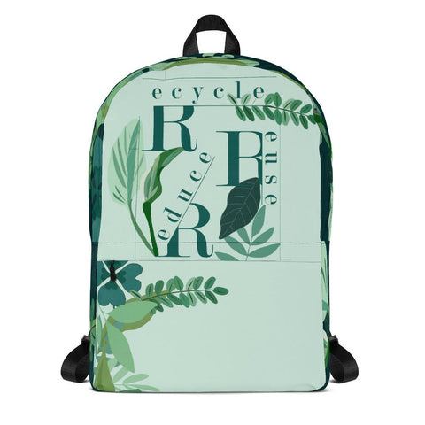 Recycle Reuse Reduce Backpack From Save the Mother Earth Collection-famenxt