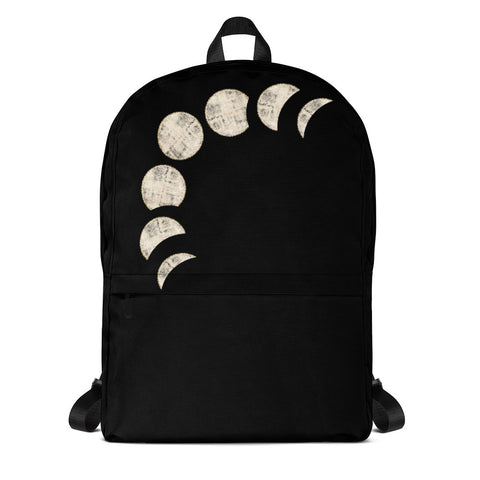 Lunar The Moon Phase Backpack-famenxt