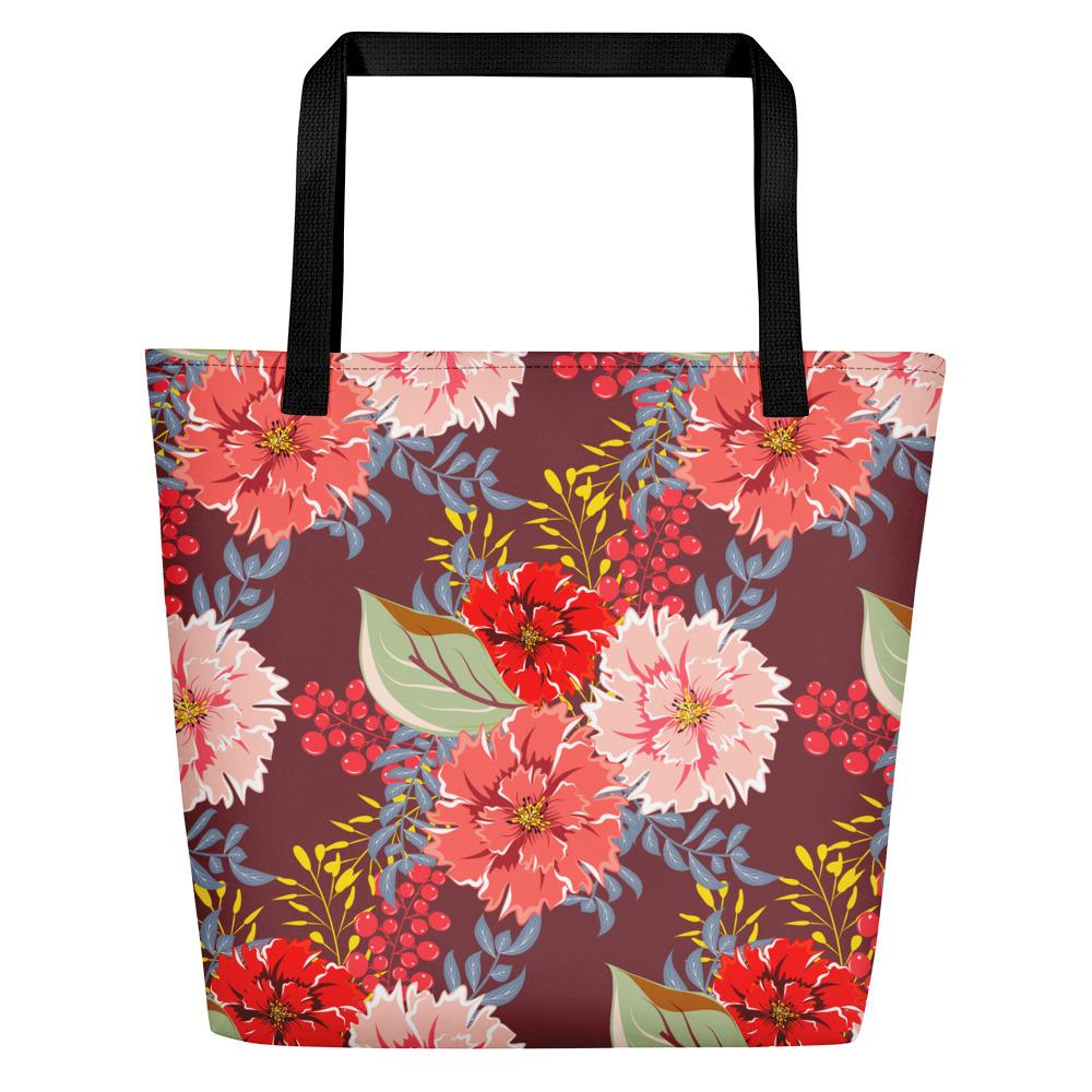 Peonies Beach Bag-famenxt