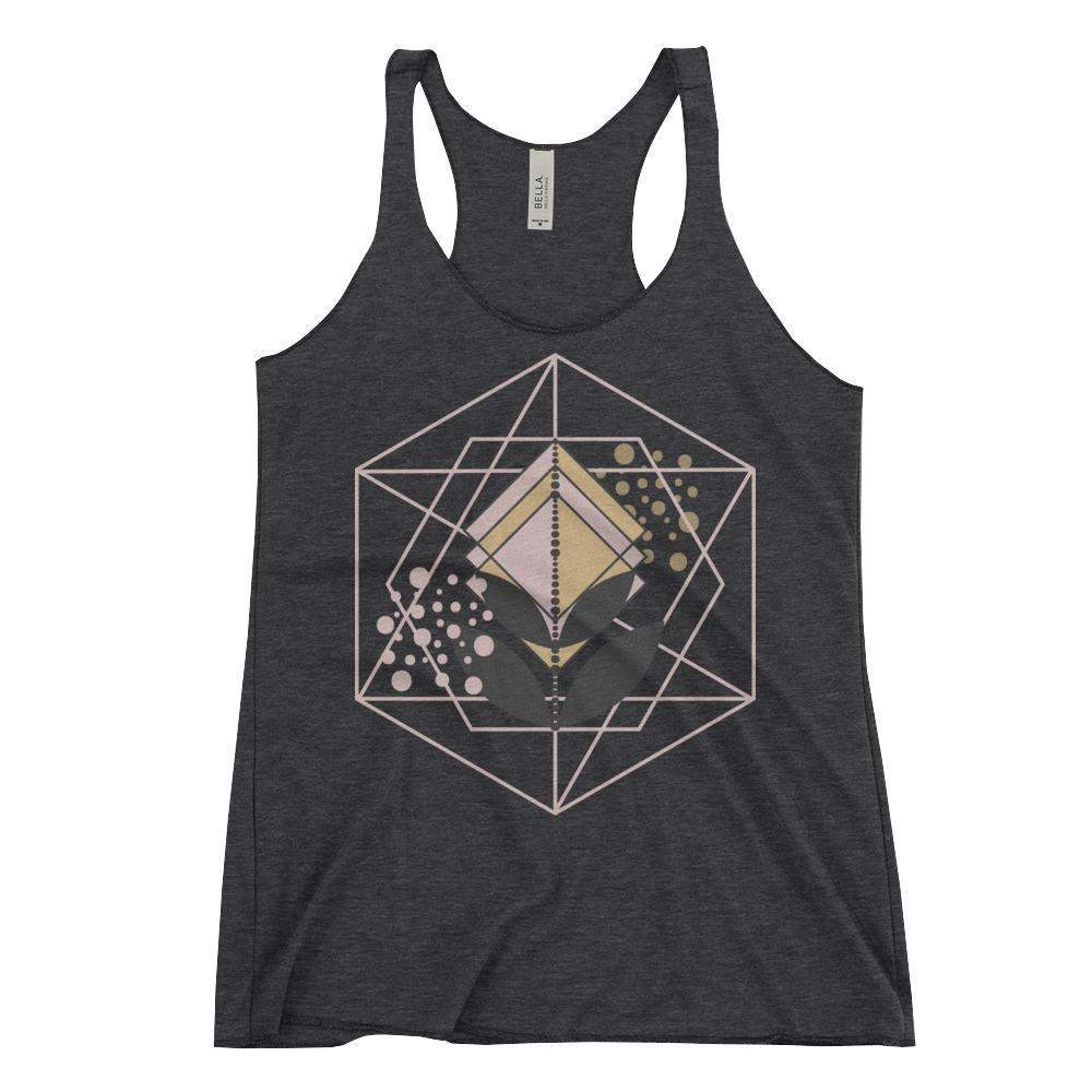 Geometric Plant Women's Racerback Tank Light Weight Top-famenxt