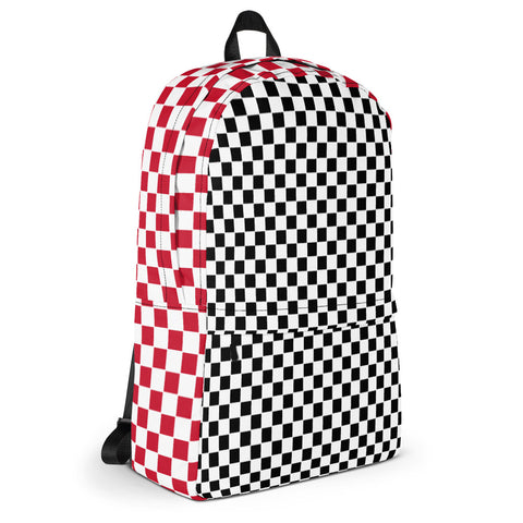 Black and Red Checkers Backpack - famenxtshop