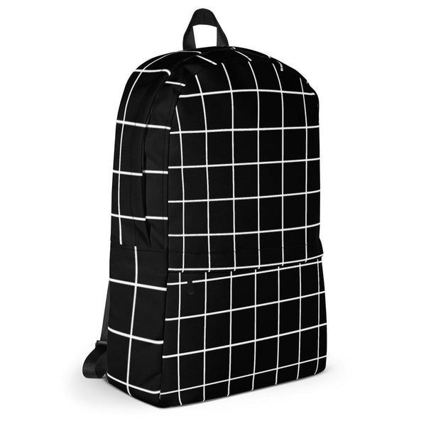 Black Grid Backpack-famenxt
