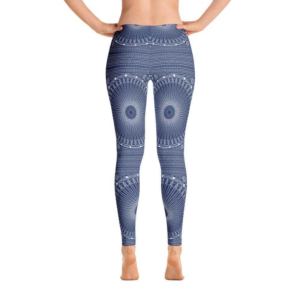Gujarat Bandhani Blue from my15bohemianart Collection Leggings-famenxt