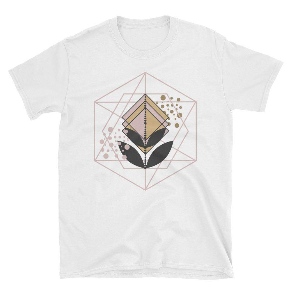 Rose Gold Abstract Short-Sleeve Unisex T-Shirt-famenxt
