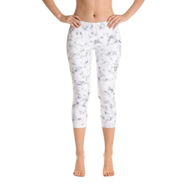 White marble Capri Leggings-famenxt