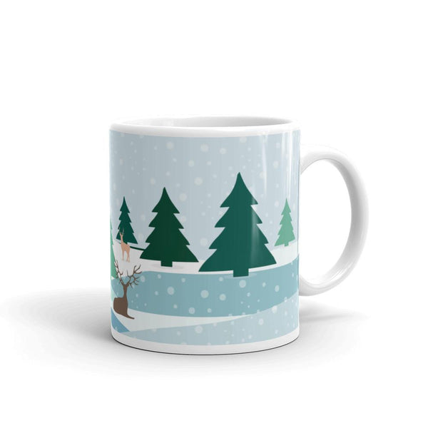 Baby its Cold Outside Winter Landscape Christmas Mug-famenxt