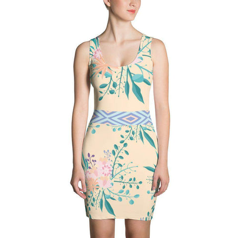 Botanical fresh flowers Dress-famenxt
