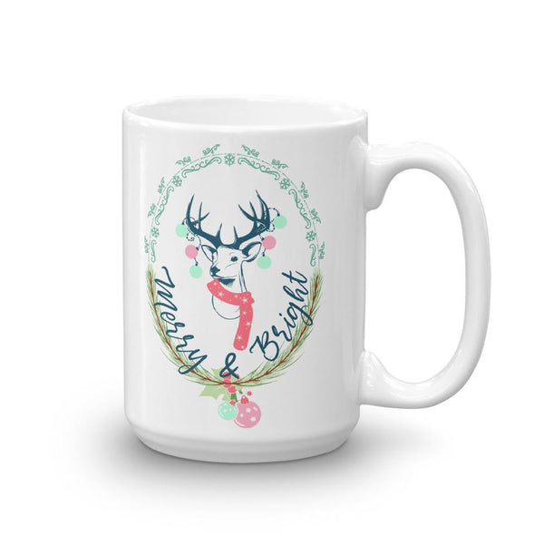 Merry and Bright Christmas Mug-famenxt