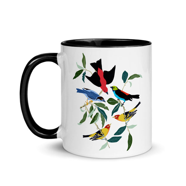 Colorful World Of Tanagers Mug with Color Inside-famenxt