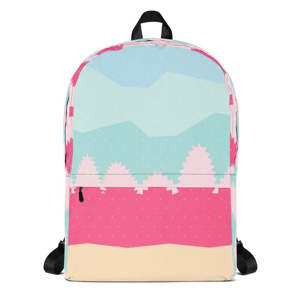 Pastel Landscape Backpack-famenxt