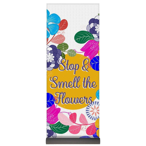 Motivational Quote- Stop And Smell The Flowers - Yoga Mat-Yoga Mat-famenxt
