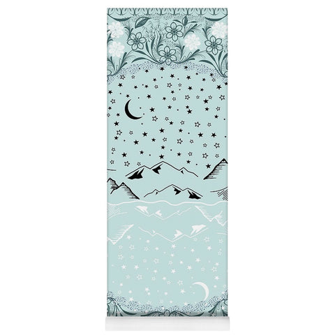 Pine Mint Starry Night - Yoga Mat-Yoga Mat-famenxt