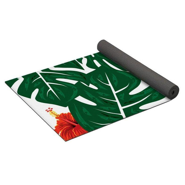 Tropical Monstera Palm Leaves - Yoga Mat-Yoga Mat-famenxt