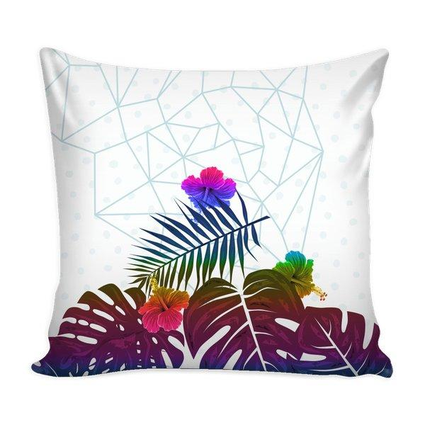 Tropical Palm and Monstera Leaves Geometric-Pillows-famenxt