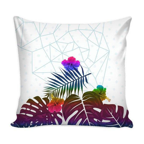 Tropical Palm and Monstera Leaves Geometric - famenxtshop