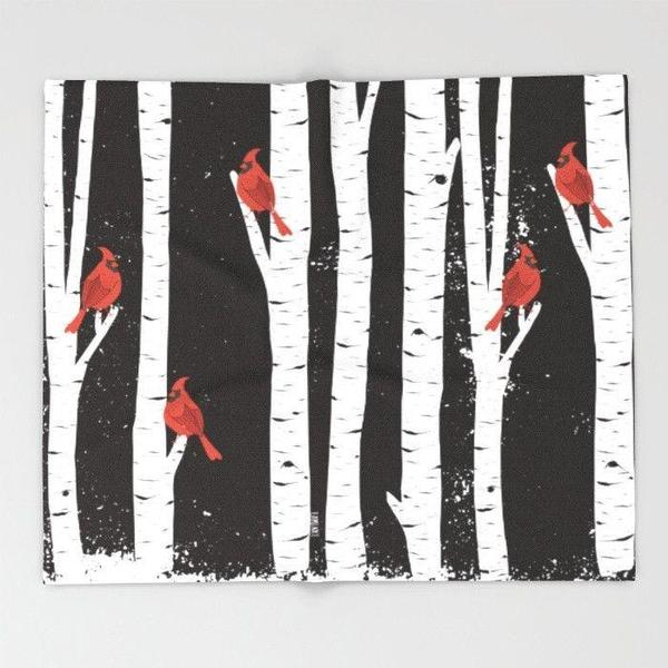 Northern Cardinal birds Throw Blanket-Throw Blanket-famenxt
