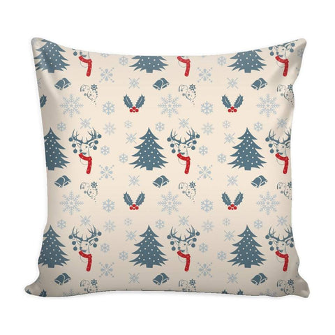 Christmas Vintage Pattern Throw Pillow Case with White Back-Pillows-famenxt