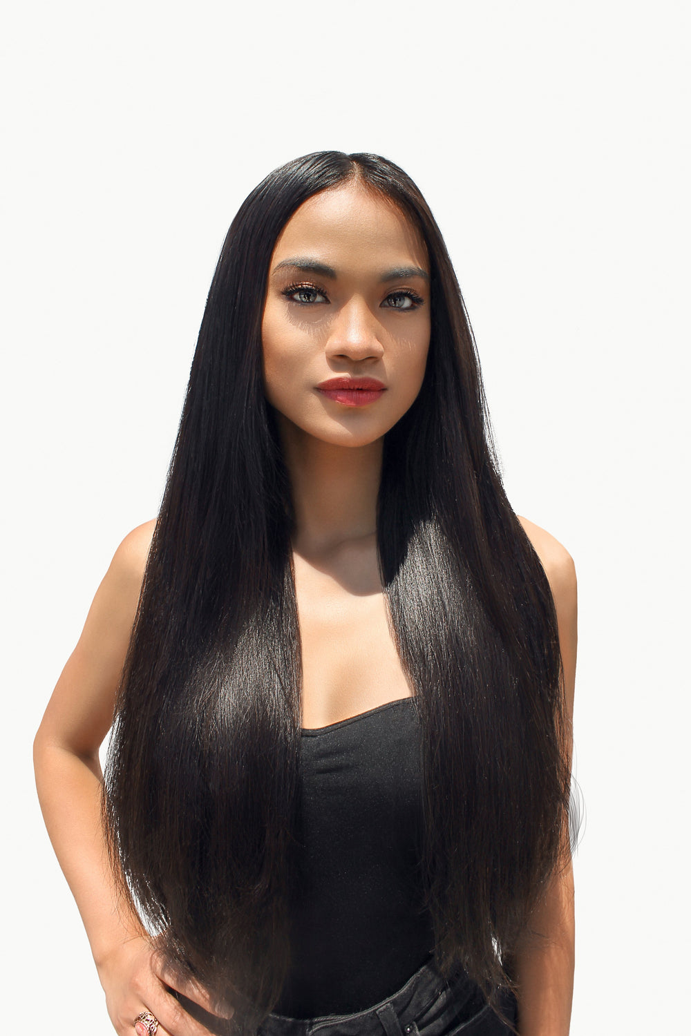 Super straight and sleek Weave Hairstyles by Glowsom