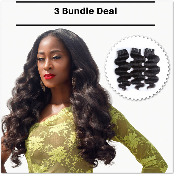 Sew In - 3 Bundle Deal - Everyday Wavy - Glowsom Weave & Hair Extensions