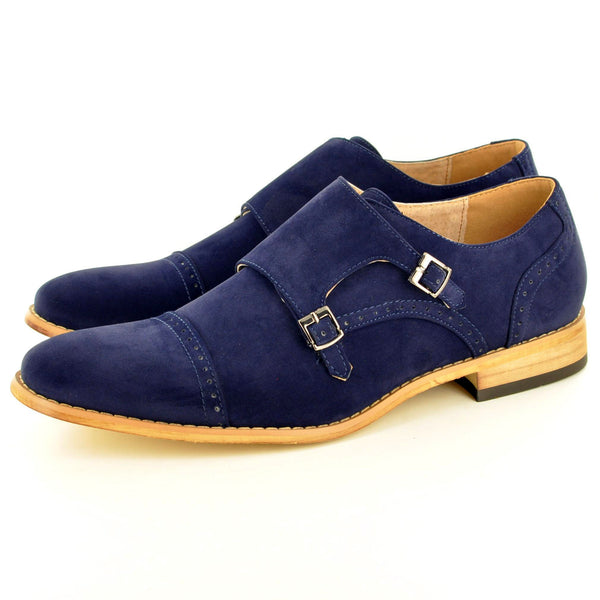 06f86fc760e5 DOUBLE MONK STRAP SHOES IN NAVY SUEDE – My Perfect Pair Ltd
