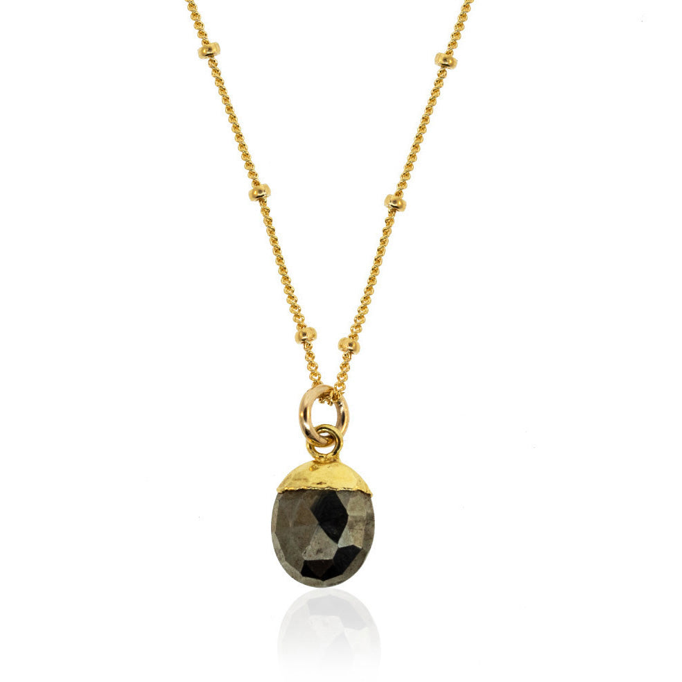 Just a Drop of Pyrite Necklace
