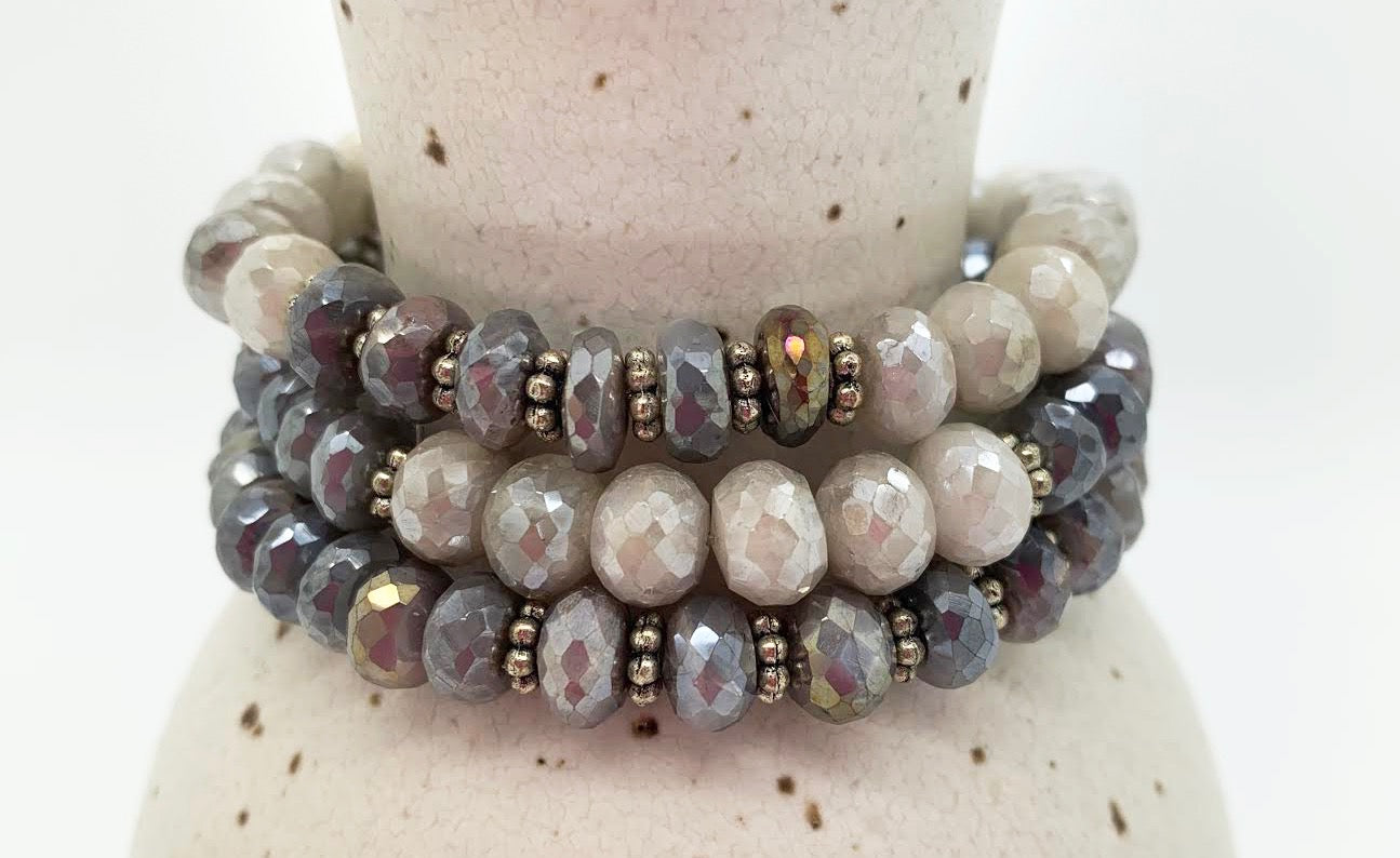 Lustrous and Lux Bracelet Stack
