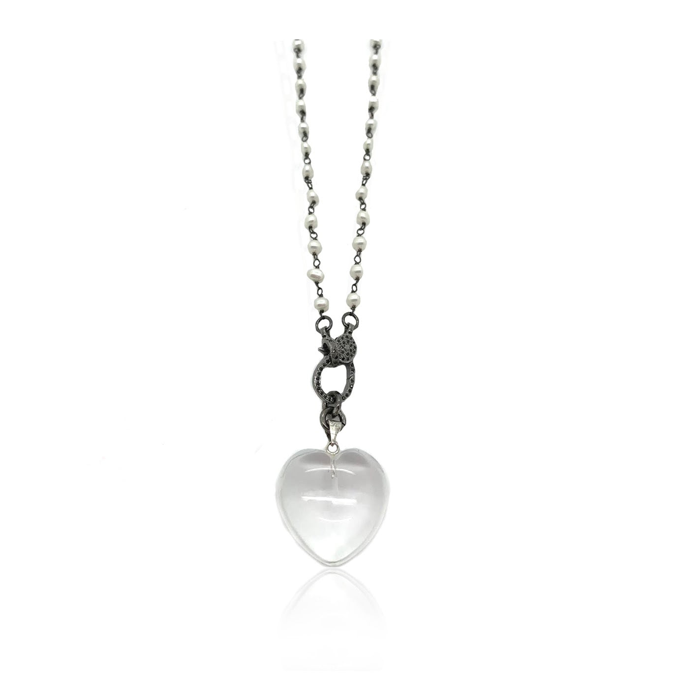 Soft Heart = Strong Love necklace