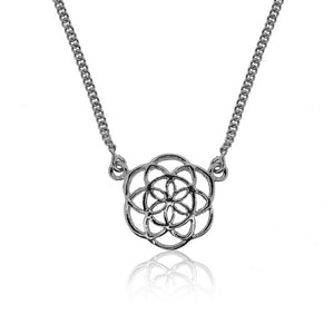 Sweet Seed of Life Necklace- Silver