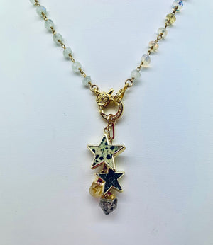 Joy Charm Necklace with Vintage Coin and Star