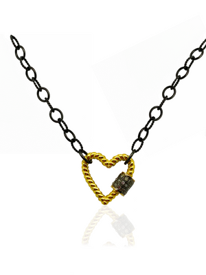 Tilted Heart Necklace