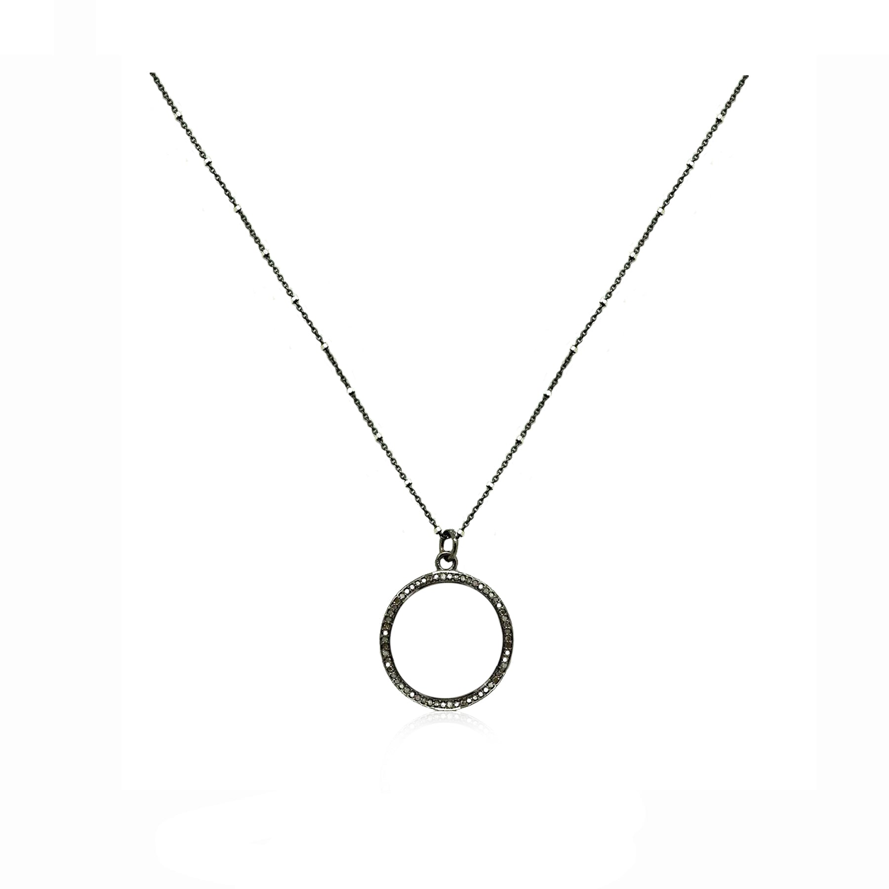 Diamond Open Circle Necklace