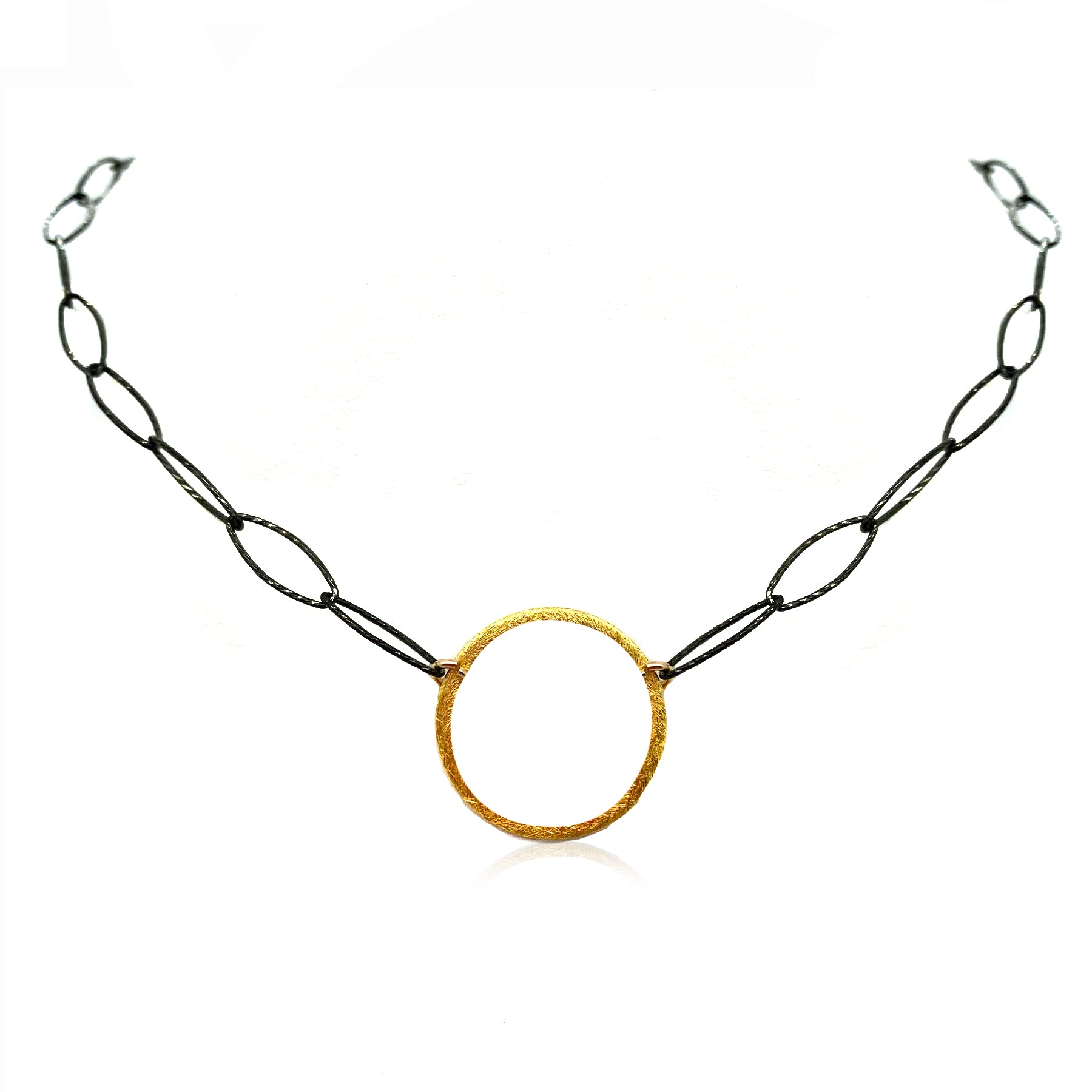 Mixed Metal Orbit Necklace