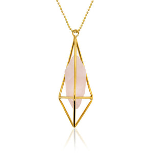 Luminosity Rose Quartz Necklace - Gold Filled